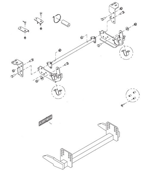 HN25012862 --- Hiniker Quick-Hitch 2 Plow Mount Kit for Ford F250-F550