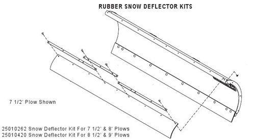HN25010420 --- Hiniker Rubber Snow Deflector Kit for 8.5' & 9'