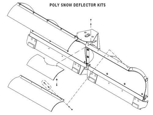 HN25011792 --- Hiniker Poly Deflector - 9.5'