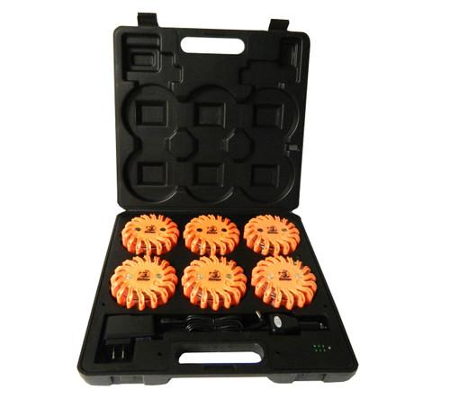 LEDFLARE-6PK  --- LED Road Flare - 16 Orange Diodes - 6 pack