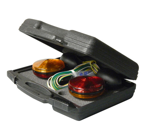 MTL6302 --- Two Sided Magnetic Round Trailer Towing Light Kit w/case