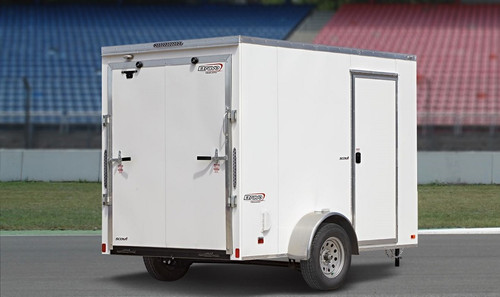 SC610SADRD --- 6' X 10' Enclosed Trailer with Ramp Door - Bravo