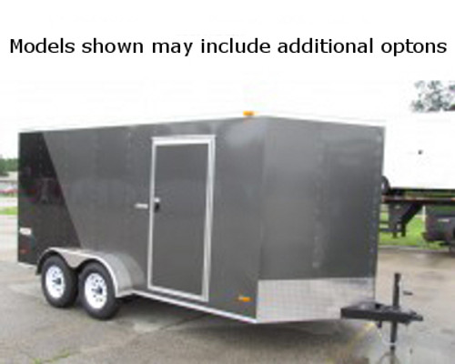 SC714TA2DRDGT --- 7' X 14' Enclosed Tandem Trailer with Ramp Door - Torsion - Bravo