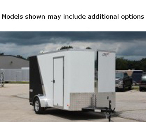SC612SADSS --- 6' X 12' Enclosed Trailer with Double Rear Doors - Torsion - Bravo