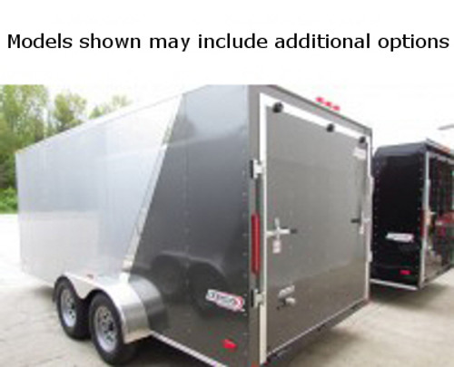 SC714TA2DSS --- 7' X 14' Enclosed Tandem Trailer with Double Rear Doors - Torsion - Bravo