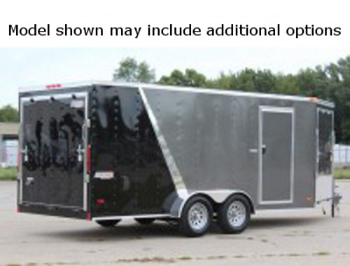 SC716TA2DSS --- 7' X 16' Enclosed Tandem Trailer with Double Rear Doors - Torsion - Bravo