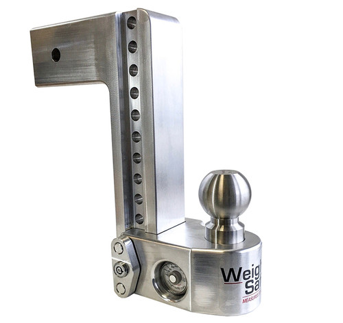 """WS103 --- 3"""" Weigh Safe Adjustable Aluminum Ball Mount with Scale, 10"""" Drop"""