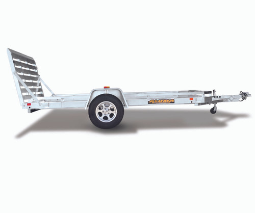 "AL7712HB --- 77"" x 12' Aluminum Utility Heavy Duty Trailer with Bi-Fold Ramp Gate"