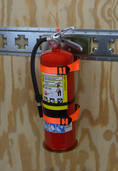 CS1732 --- Fire Extinguisher Holder for X-Track/E-Track Systems