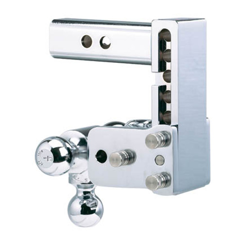 """BW20048C --- B&W 2.5"""" Shank Tow and Stow Adjustable Tri-Ball Mount, 5"""" Maximum Drop"""
