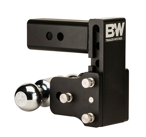 "BW30037B --- B&W 3"" Shank Tow and Stow Adjustable Two Ball Mount, 4.5"" Maximum Drop"