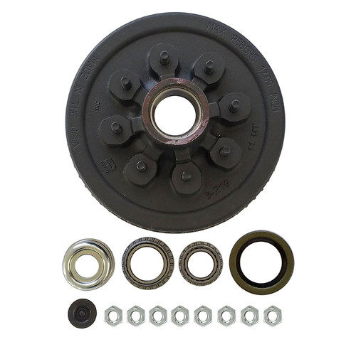 """1-42865HDEZ --- 8 on 6-1/2"""" Hub and Drum Assembly - 7,000 lb - Ez Lube"""