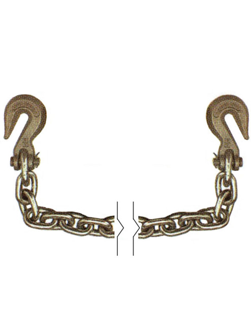 """G70516X20 --- 5/16"""" Transport Chain Assembly with Clevis Grab Hooks on Both Ends - Grade 70"""