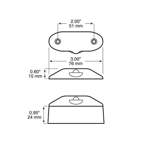 LED290C1 --- LED Licence Plate/Utility Light - 1 Diode