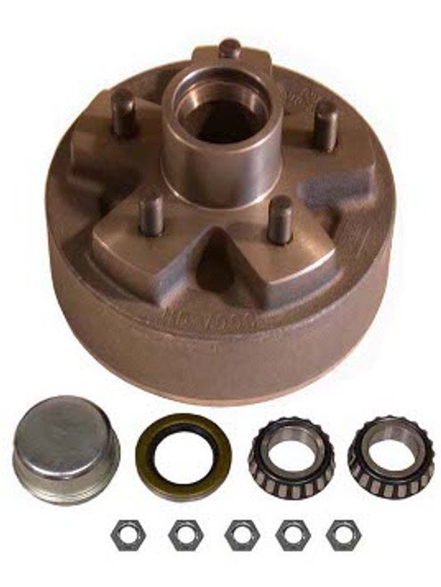 """1-BT5-49HDE --- 5 on 4-1/2"""" Hub and Drum Assembly for 7"""" Electric Brake"""