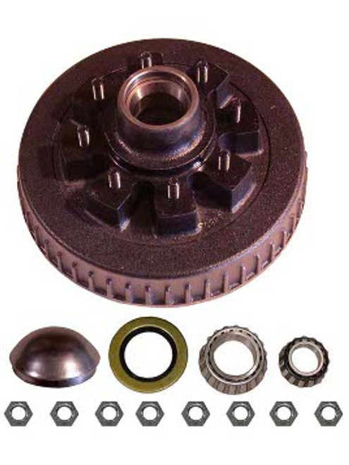 """1-42865AHD --- 8 on 6-1/2"""" Hub and Drum Assembly - 7,000 lb"""
