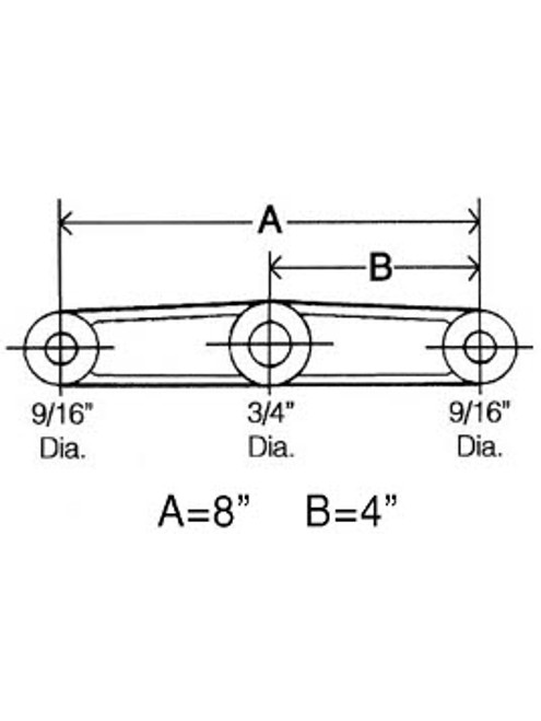"""SER34916 --- Straight Tandem Equalizer for 1-3/4"""" Wide Double Eye Springs"""