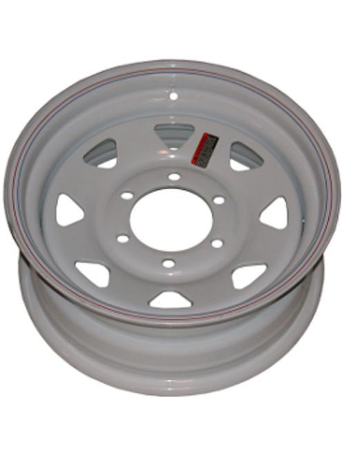 "W15-655WS --- 15"" Trailer Wheel, 6 on 5-1/2"""