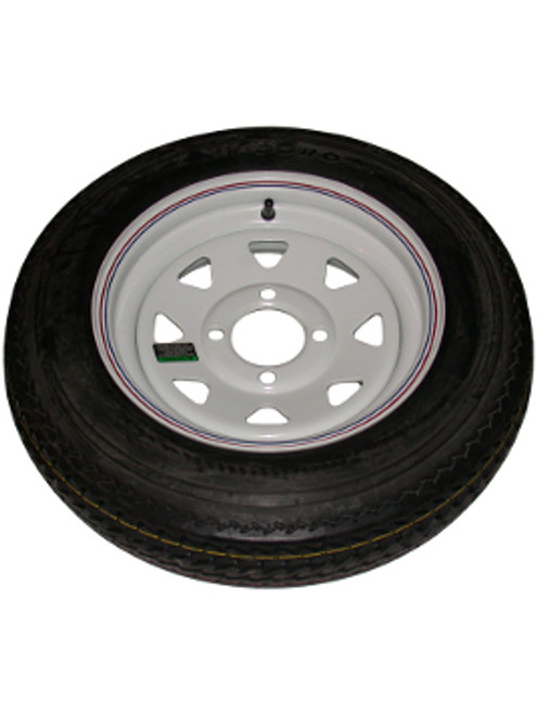 """WT12-4WSD --- 12"""" Trailer Wheel and Tire Assembly, 4 on 4"""""""