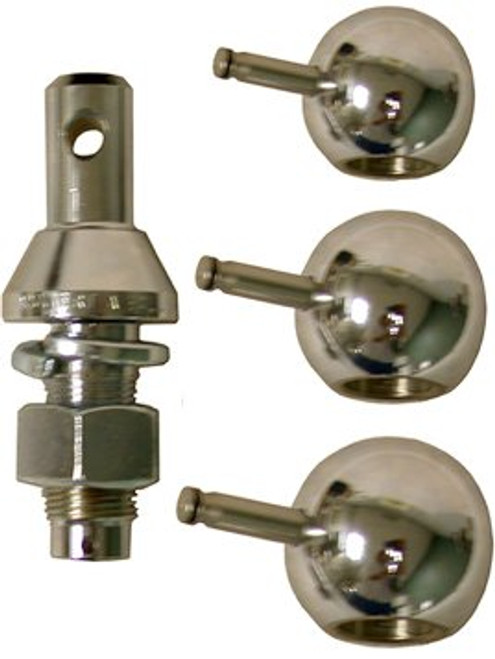 "904B --- Convert-A-Ball Kit, 1"" Nickel Regular Shank plus 2"" and 2-5/16"" Nickel Hitch Balls"