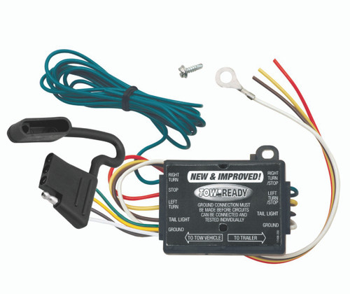 119130 --- 3-Wire Vehicle to 2-Wire Trailer Upgraded Taillight Converter with Short Circuit Protection and a 4-Flat Connector