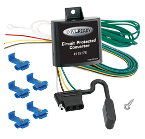 119178 --- 3-Wire Vehicle to 2-Wire Trailer Taillight Converter with Short Circuit and Overload Protection