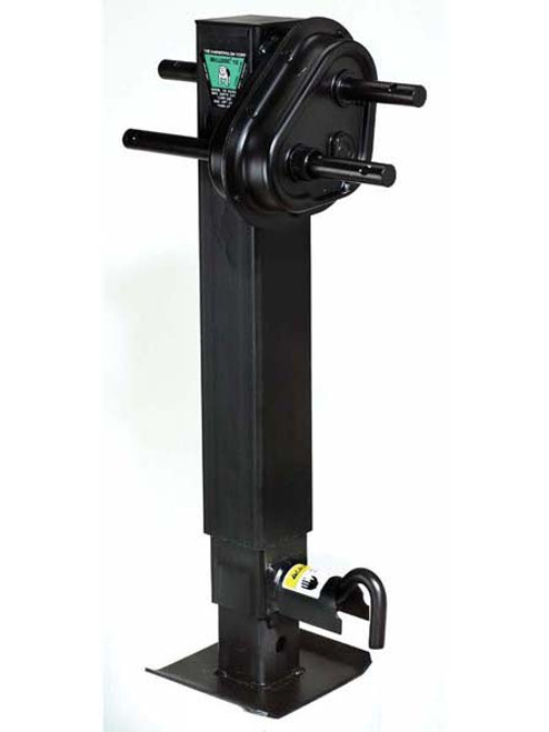 183902 --- BULLDOG Two Speed Drop Leg Trailer Jack - Pin to Side - 12,000 Capacity