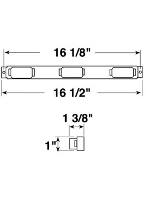 107-3A --- Amber Mini-Light Identification Light Bar