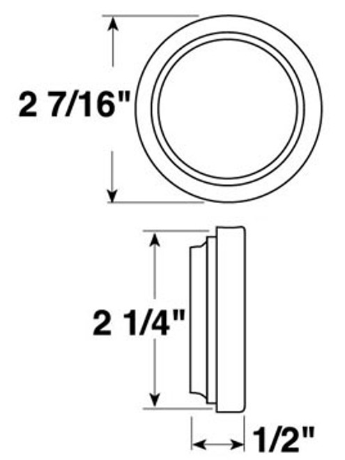 "146-18 --- Peterson 2"" Round Flush Mount Grommet"