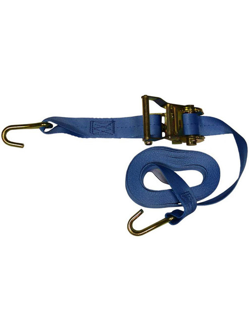"""RTS-13820 --- Standard Duty Tie Down Strap with Ratchet - J Hook End Fittings - 1-3/8"""" x 20'"""