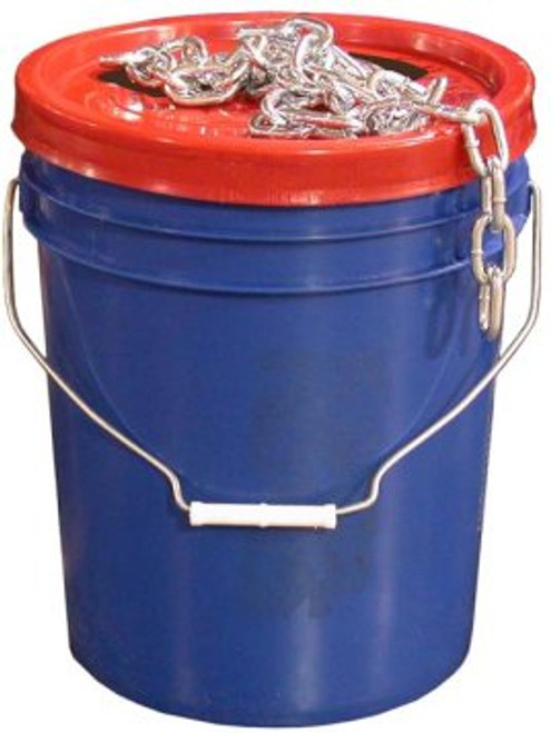 """CHP14PAIL --- Bucket of 1/4"""" Proof Coil Safety Chain - 141' Length"""