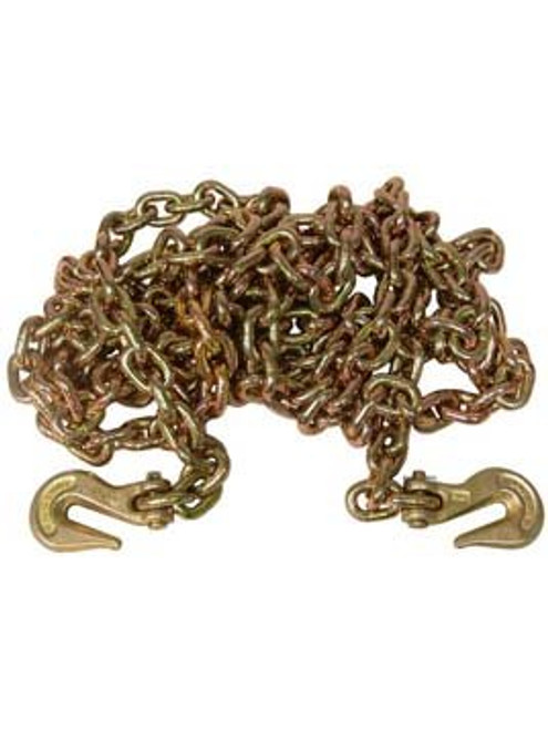 """G7038X20 --- 3/8"""" Transport Chain Assembly with 3/8"""" Clevis Grab Hooks on Both Ends - Grade 70"""