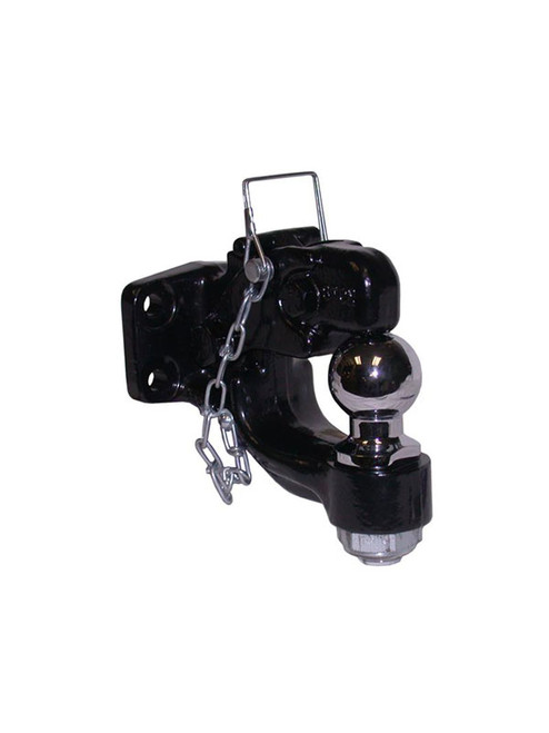 "DPH1780 --- Pintle Hook Combination with 1-7/8"" Chrome Hitch Ball - 16,000 lb Capacity"