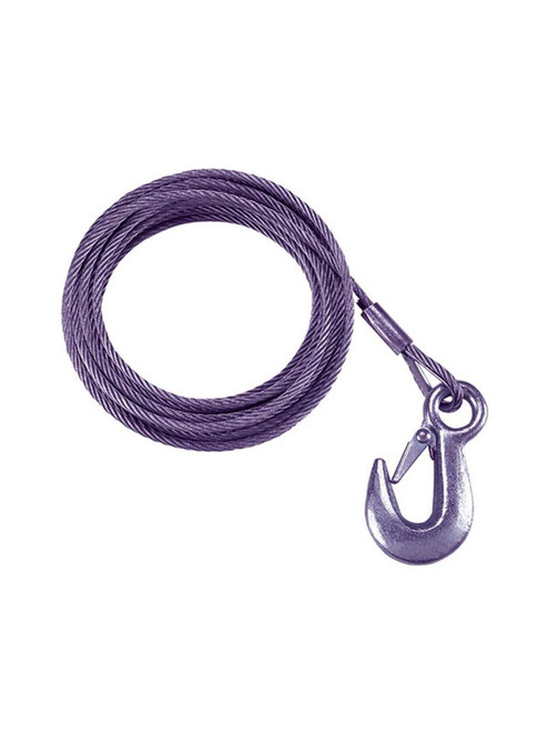 WC25 --- 25' Galvanized Winch Cable with Hook