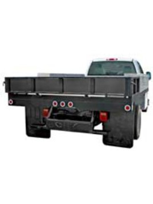 1809050 --- Flatbed Dump Hitch Bumper with Pintle Hook Mounting Holes