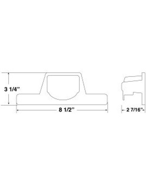 150-141B --- License Plate Light Bracket