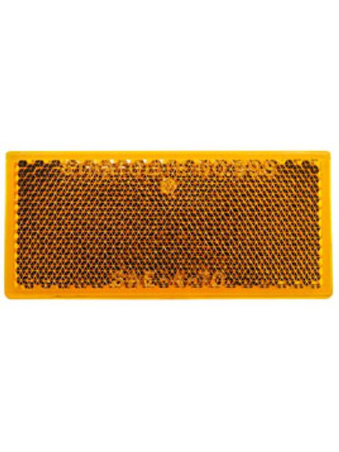 483A --- Rectangular Amber Reflector - Quick Mount
