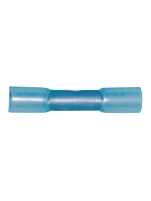 BB1614-ST --- Adhesive Lined Shrink Tube Blue Butt Connector