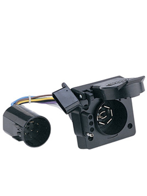 40955 --- 7-Way Flat Pin Socket and 4-Prong Flat OEM  Conector with Bracket