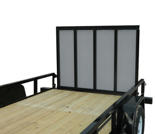 """STR6010G --- 6' x 10' Trailer with 11"""" Rails and Ramp Gate"""
