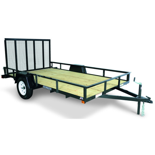 """STR612G --- 6' x 12' Trailer with 11"""" Rails and Ramp Gate"""