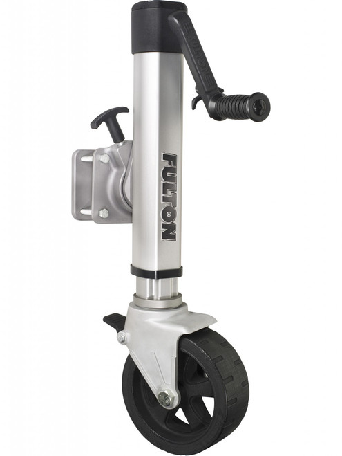 F21600WT45 --- Fulton Swivel Sidewind F2 Trailer Jack with Wide Track Caster - 1,600 lb Capacity