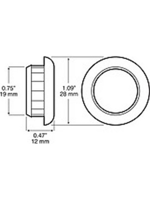 """171-18 --- Peterson 1"""" Round Replacement Grommet"""