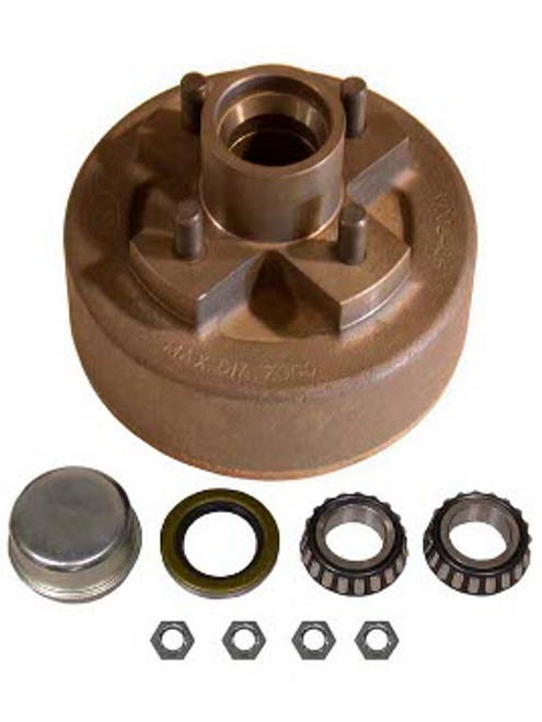 """1-BT4-43HDE --- 4 on 4"""" Hub and Drum Assembly for 7"""" Electric Brake"""