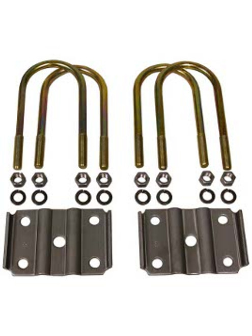 """238-55 --- 2-3/8"""" U-Bolts and Axle Plates for 1-3/4"""" Wide Springs"""