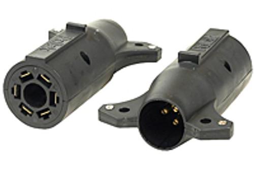 18150 --- 7-Way Flat Pin to 6-Way Round Adapter