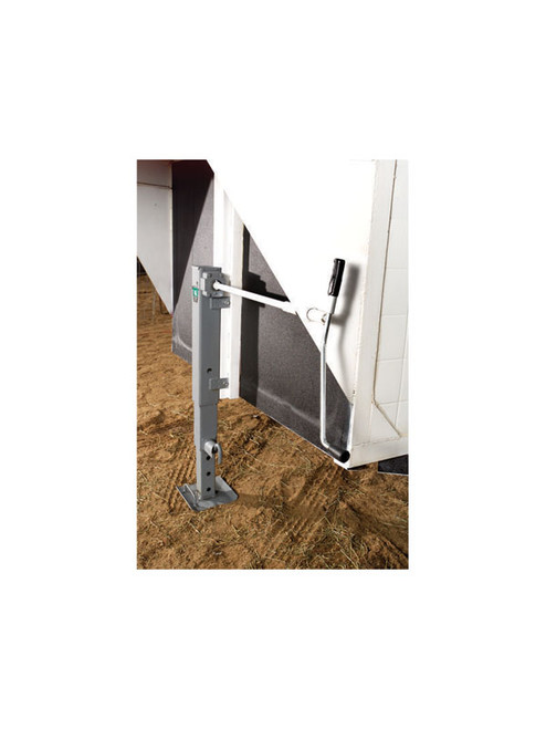 183401 --- BULLDOG Two Speed Drop Leg Trailer Jack - Pin to Side - 12,000 lb Capacity
