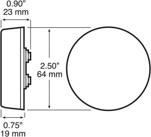 "143KA --- Round 2-1/2"" Sealed Clearance/Side Marker Light Kit"