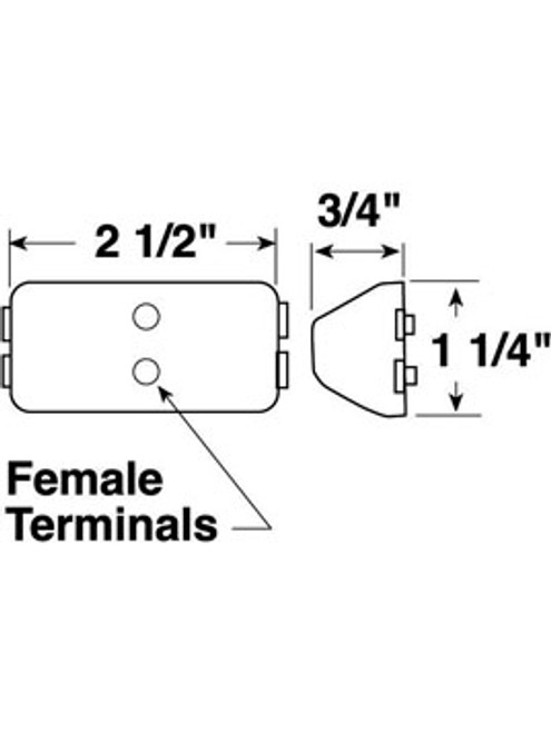 150R --- Rectangular Sealed Clearance/Side Marker Light