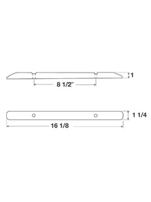 LED169-3A6 --- Amber LED Identification Light Bar-6 Diodes